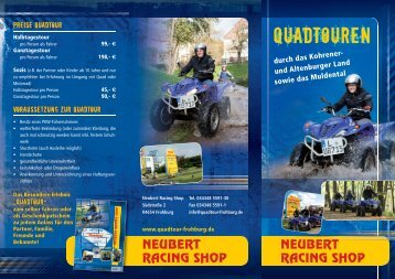 Quad-Touren Kohrener Land, Altenburg und Muldental 10x21