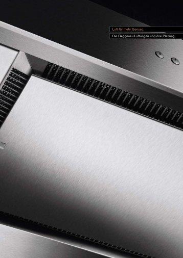 Ventilation brochure - Gaggenau