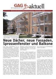 Neue Dächer, neue Fassaden, Sprossenfenster und Balkone - GAG ...