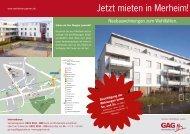 Vermietungsflyer - GAG Immobilien AG