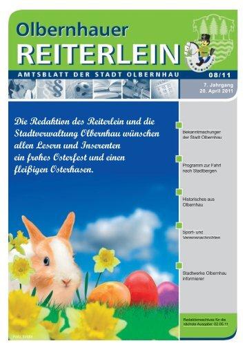 Die Redaktion des Reiterlein und die Stadtverwaltung Olbernhau ...