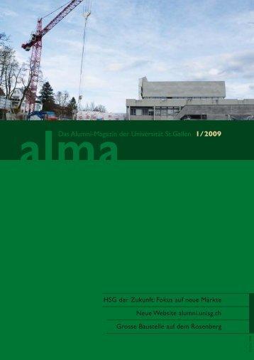 Das Alumni-Magazin der Universität St.Gallen 1/2009 - HSG Alumni ...