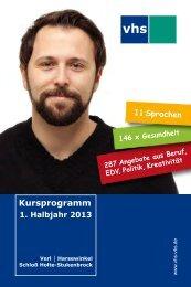 1. Halbjahr 2013 - Volkshochschule Harsewinkel Schloß Holte ...