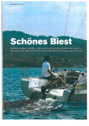 Page 1 YACHTTEST ELAN C210 fl Ā Schönes Bi Handlich, modern ...
