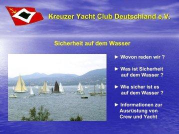 Inhalte der Podiumsdiskussion - Kreuzer Yacht Club Deutschland e.V.