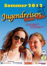 Sommer 2012 - Jugendreisen Rhein Ruhr
