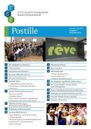 Postille Nr. 2 - Dezember 2012 - Gymnasium Mainz-Gonsenheim