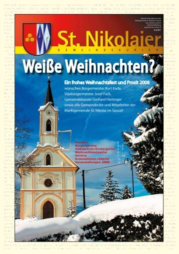 Weiße Weihnachten? - Marktgemeinde St. Nikolai im Sausal