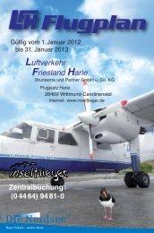 aktueller Flugplan LFH 2012 - Luftverkehr Friesland Harle