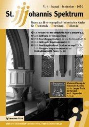 Heft Aug. - Sep. 2010 - St. Johannis Bemerode