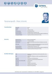 Personenprofil – Peter Schmitt - GAIN Software