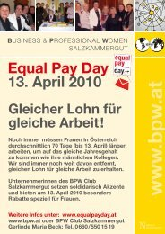 www .bpw .at - Equal Pay Day