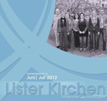 Juni| Juli 2012 - Luth. Lister Johannes- und Matthäus ...