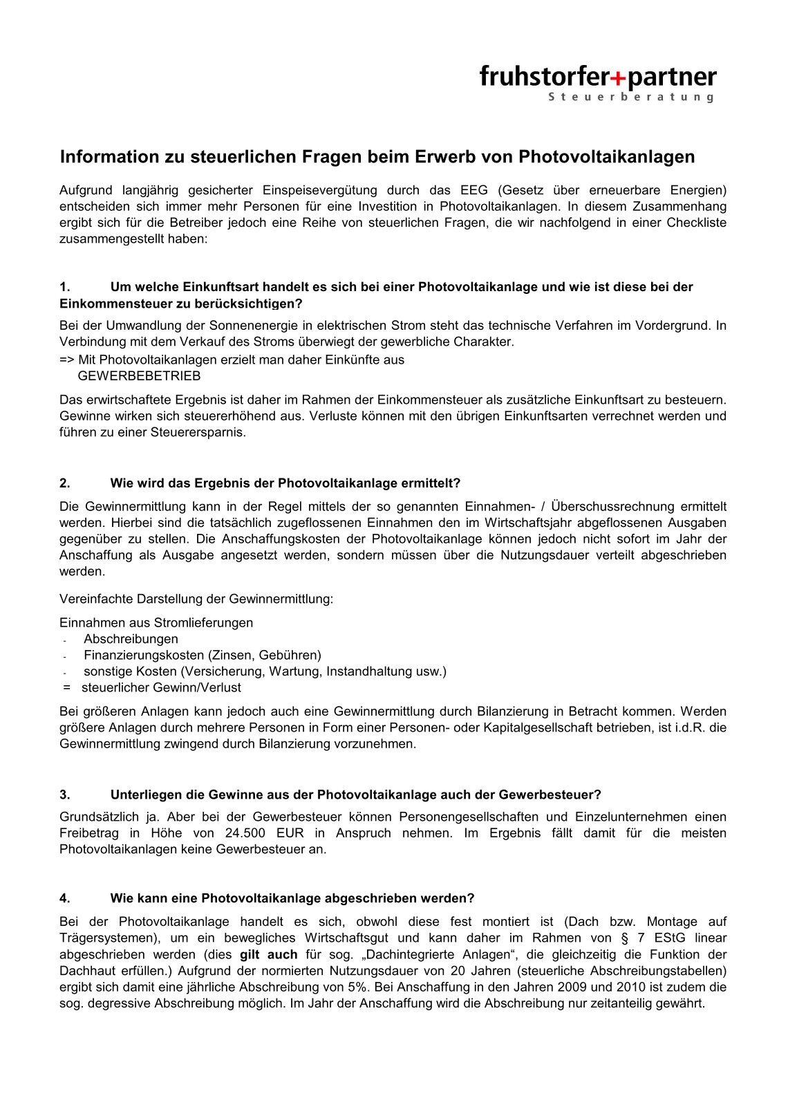 fruhstorferpartner - Liquidationseroffnungsbilanz Muster