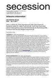 Artworks information - Secession