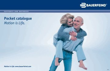 Pocket catalogue Motion is Life. - Bauerfeind UK
