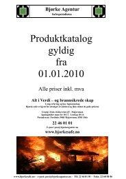 Produktkatalog 2010.pub - Bjørke Agentur