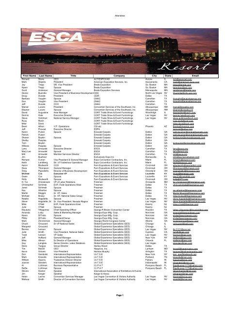 2012 SEC WEB LIST 5 18 12 - Exhibition Services & Contractors ...