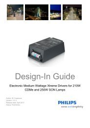 Design-in guide 210-250W Xtreme - Philips Lighting