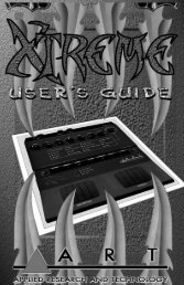 A.R.T. Extreme (guitar processor) User's Guide