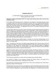 PHARMING GROUP N.V. (a limited liability company ... - AFM