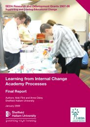 Learning from Internal Change Academy Processes - Seda