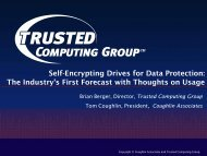 Self-Encrypting Drives for Data Protection - Trusted Computing Group
