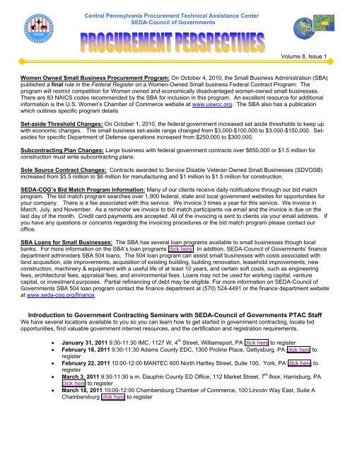 January 2011 Vol 8 Issue 1 Seda Cog