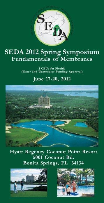 SEDA 2012 Spring Symposium - American Membrane Technology ...