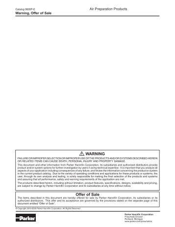 Catalogs - Parker Hannifin Corporation