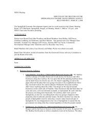 SEDA Meeting MINUTES OF THE MEETING OF ... - City of Springfield