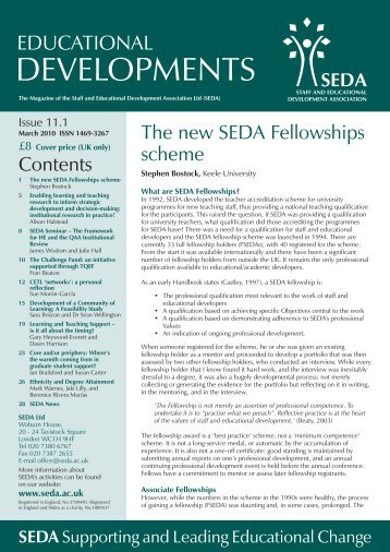 Educational Developments Issue 11.1 - Seda