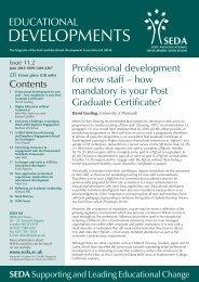 Educational Developments Issue 11.2 - Seda