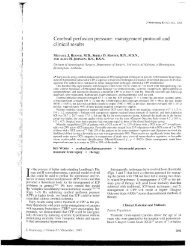Cerebral perfusion pressure: management protocol and ... - Ether