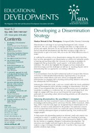 Educational Developments Issue 6.2 - Seda