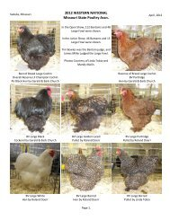 2012 WESTERN NATIONAL Missouri State Poultry Assn.