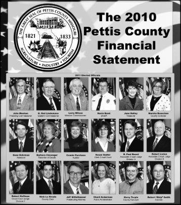 Pettis County Financial Statement - Sedalia News Journal