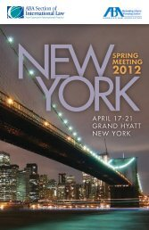 april 17-21 grand hyatt new york spring meeting - Arbitration Law
