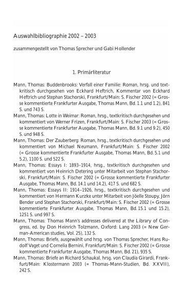 PDF-Liste für das Jahr 2004 - Thomas Mann