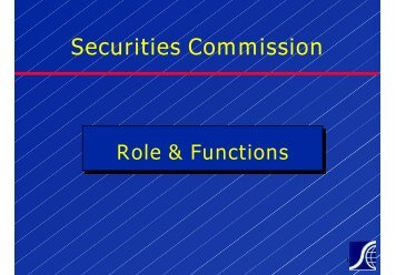 Policy and Development Division - Securities Commission Malaysia