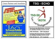 Saison 11/12, Heft 10 - TSG 08 Roth