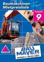 Baumaschinen & Geräte - Bau-Mayer Werner K. Mayer GmbH