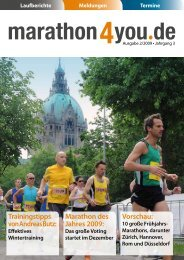 Ausgabe 2/2009 - Marathon4you.de
