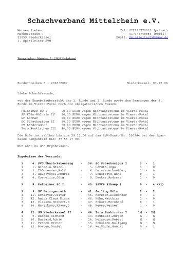 Ergebnisse im pdf-Format - Schachverband Mittelrhein e. V.