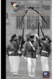 GENE Catalog (aka Grey Book): Class of 2010 - West Point
