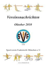 Oktober 2010 - SV Funkstreife München e.V.