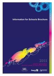 Information for Schools Brochure - Education Queensland