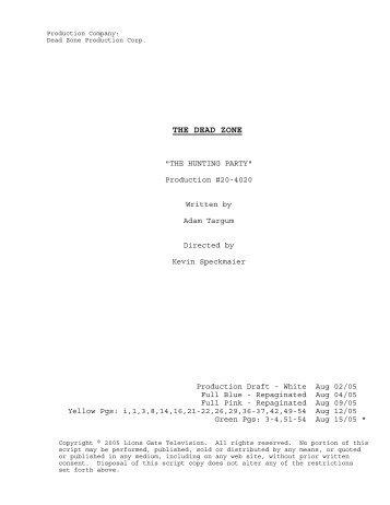 20-4020 Final Shooting Script.SCW - USA Network
