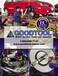Goodtool Brake Service Tools & Supplies 2011 Catalog
