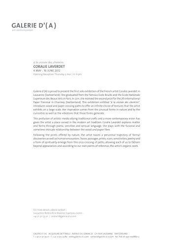 Press Release - Galerie d